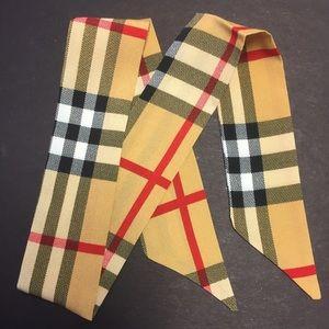 Check print scarf, New